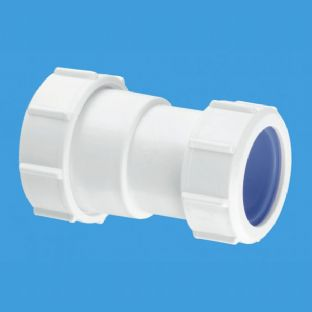 "S28L-ISO 1 1/4"" Straight Connector Multifit x European pipe size x 32mm. McAlpine"